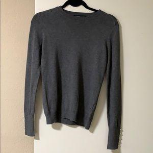 Grey Zara Sweater w/ Pearl Sleeves